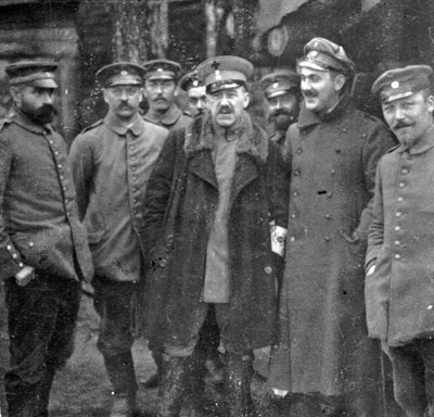 Joseph and Siegfriend Thannhauser and medical staff in the Vosges 1916